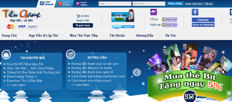 Website bán thẻ game online uy tín cho game thủ