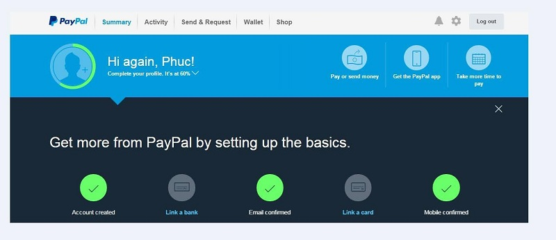 Hướng dẫn cách xác nhận thông tin và Verified tài khoản Paypal