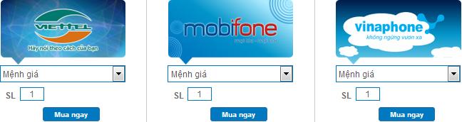 Cách nạp tiền điện thoại online