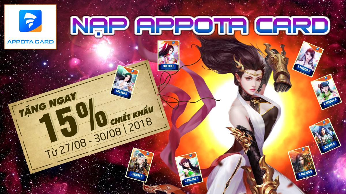 Nạp Appota Card - TẶNG NGAY 15%