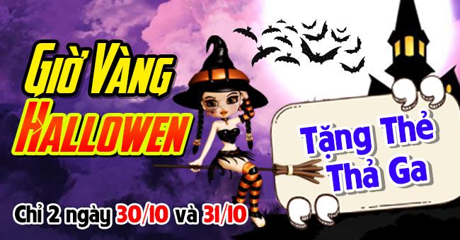 Giờ vàng Halloween - Tặng thẻ thả ga