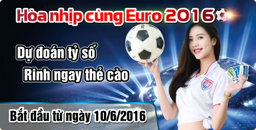 Dự Đoán Euro – Tặng Ngay Thẻ Game Online