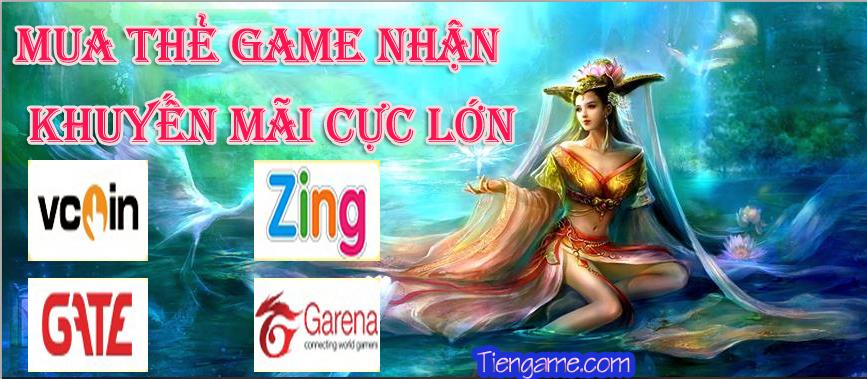 Bùng nổ lễ hội mua thẻ game khuyến mãi cực lớn tại Tiengame.com