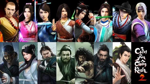 Những lớp nhân vật trong Cửu Âm Chân Kinh