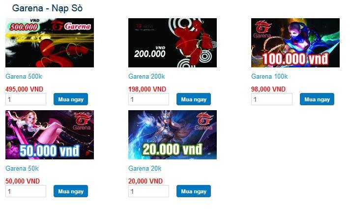 Cách mua thẻ garena online nhận ngay ưu đãi khủng tại tiengame.com