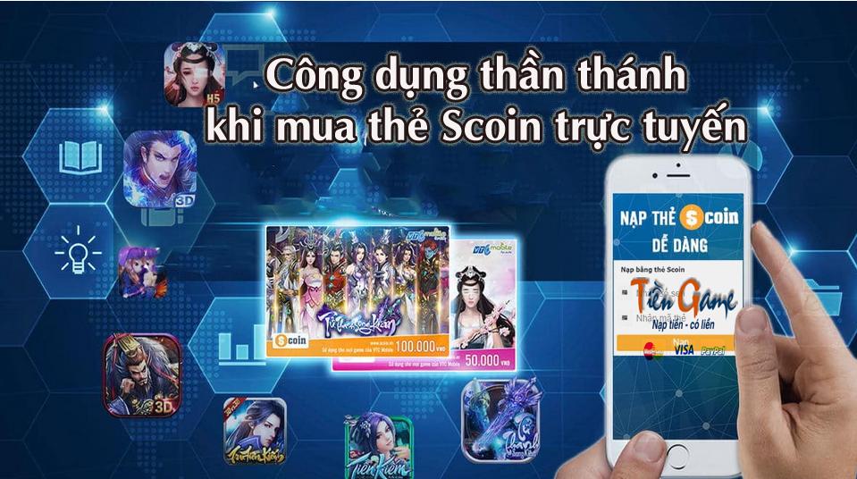 Cộng dụng thần thánh khi mua thẻ Scoin trực tuyến tại Tiengame.com
