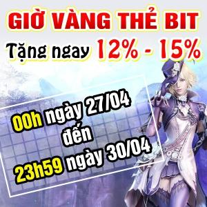 Giờ Vàng Thẻ BIT - Nhận Ngay 15%