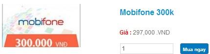 Mua thẻ Mobifone 300k nhận ngay quà tặng