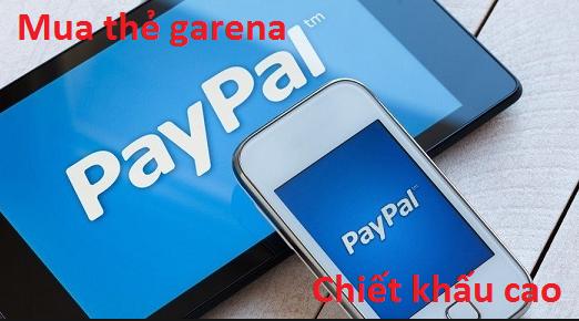 Hướng dẫn cách mua thẻ garena chiết khấu cao bằng Paypal