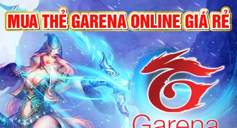 Cách mua thẻ Garena online chiết khấu cao