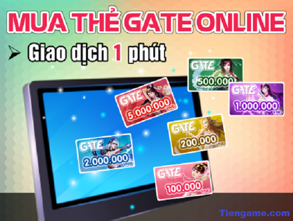 Hướng dẫn mua thẻ gate trực tuyến giá rẻ cho game thủ