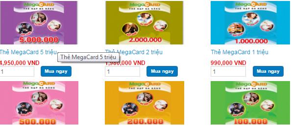 Mua thẻ Megacard nạp game nhanh chóng, giá rẻ h2
