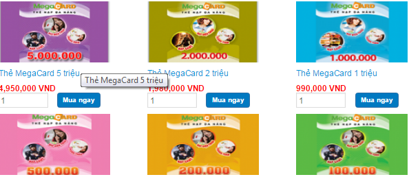 Mua thẻ Megacard online thanh toán qua Onecom (Visa, mastercard) h2