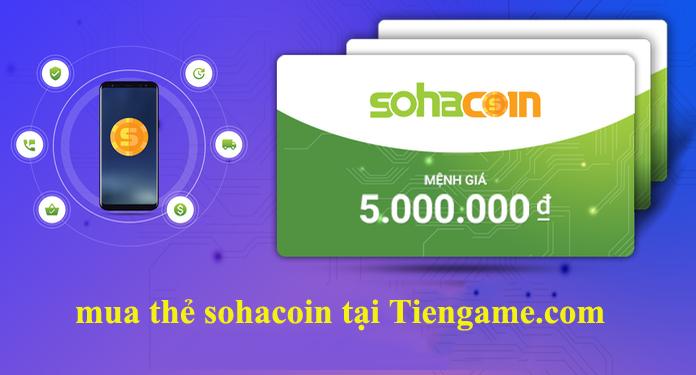 Cách mua thẻ sohacoin online tại tiengame.com