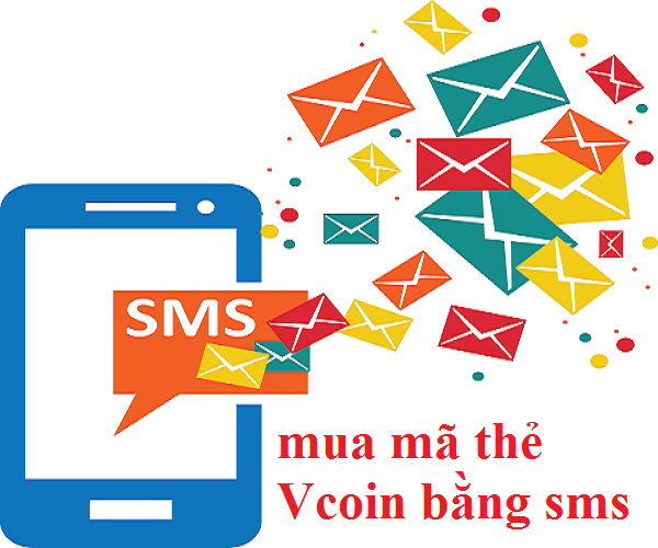 Mua thẻ vcoin bằng sms