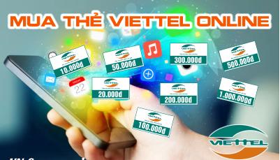 Mua thẻ viettel online chiết khấu hấp dẫn