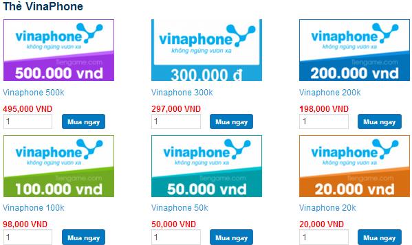 mua thẻ vinaphone