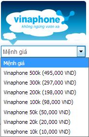 Mua thẻ Vinaphone online siêu nhanh, siêu rẻ