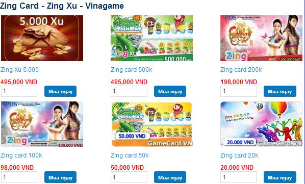 Mua thẻ Zing online tiết kiệm thời gian chi phí tại tiengame.com