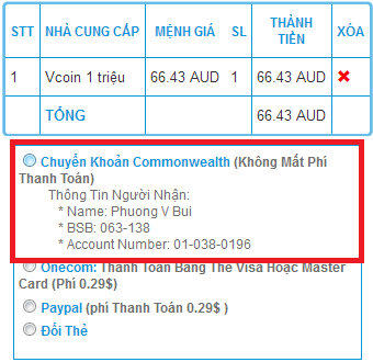 Nạp Thẻ Vcoin bằng Commonwealth bank h2