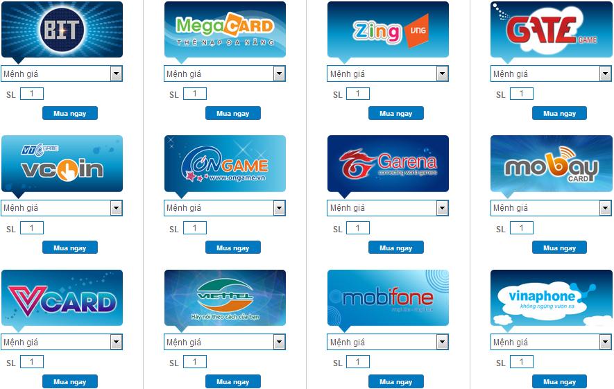 Mua thẻ game online chiết khấu cao, đa dạng các loại thẻ và mệnh giá 2