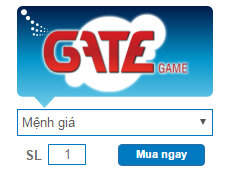 Mua Thẻ Gate Online, Thẻ Gate Nạp Game FPT