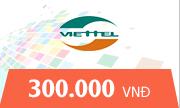Nạp Thẻ Viettel 300k - Mệnh giá mới được bán ở Tiengame