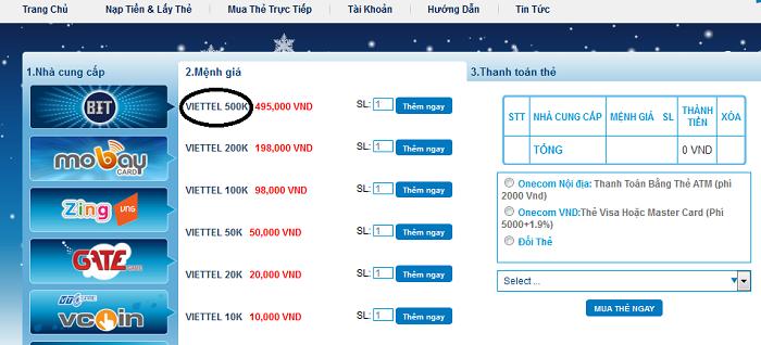 Mua thẻ Viettel online giá rẻ qua paypal khi bạn ở mỹ h2