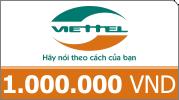 Nạp card Viettel 1 triệu siêu ưu đãi