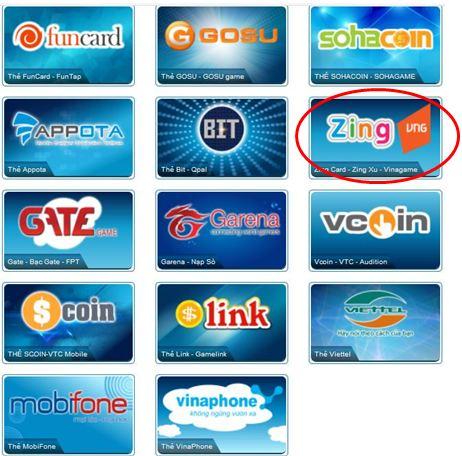 Mua thẻ Zing Ở Mỹ giá rẻ nhanh chóng
