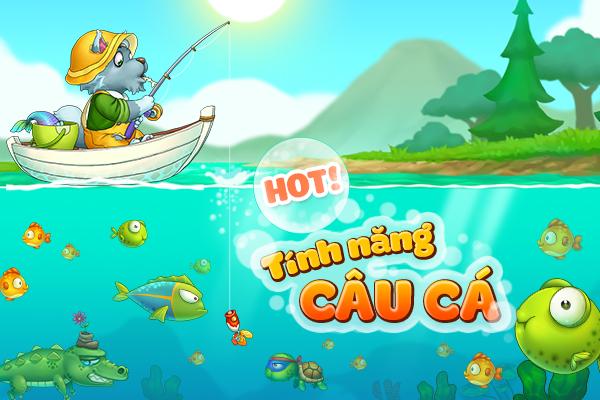 Tìm hiểu tính năng câu cá trong Khu Vườn Trên Mây