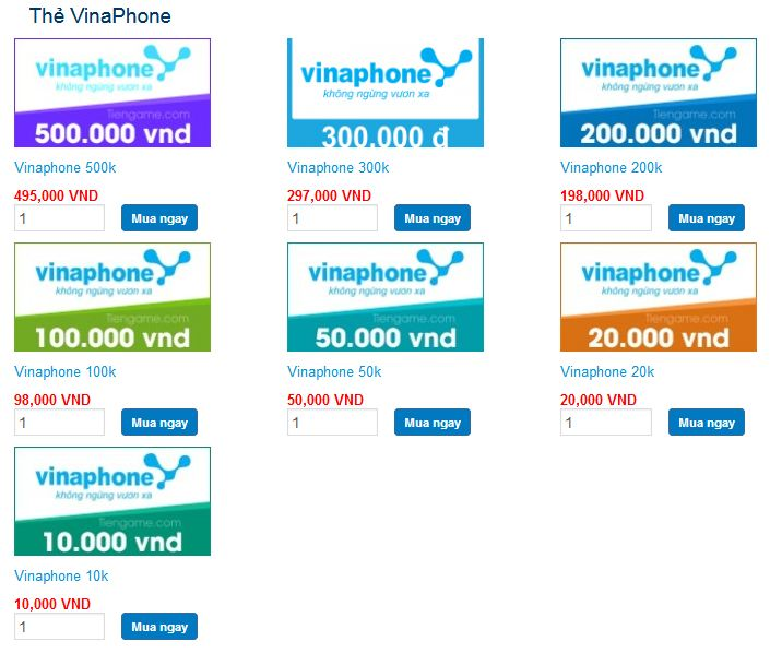 cách mua thẻ vinaphone online chiết khấu cao