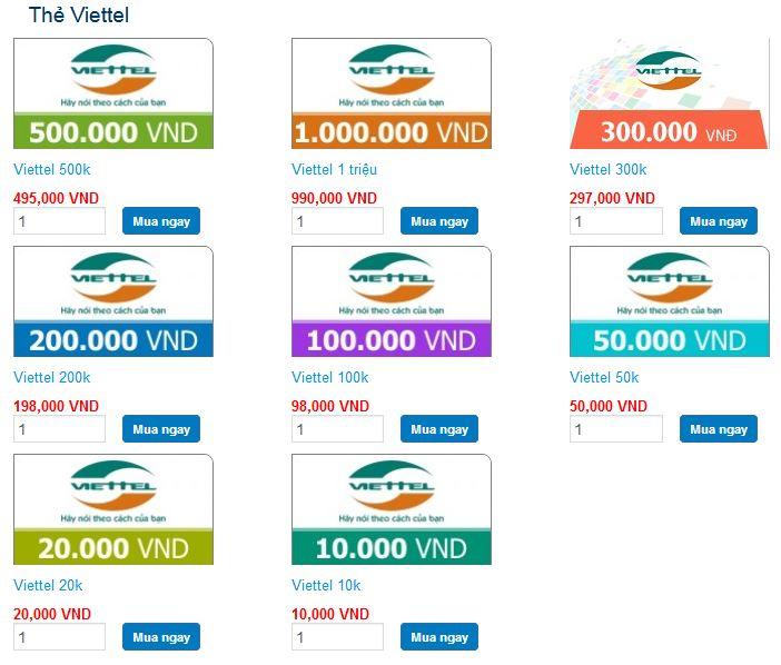 cách mua thẻ viettel mới và hiện đại nhất hiên nay
