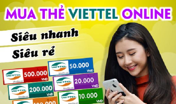 giới thiệu hình thức mua thẻ viettel online
