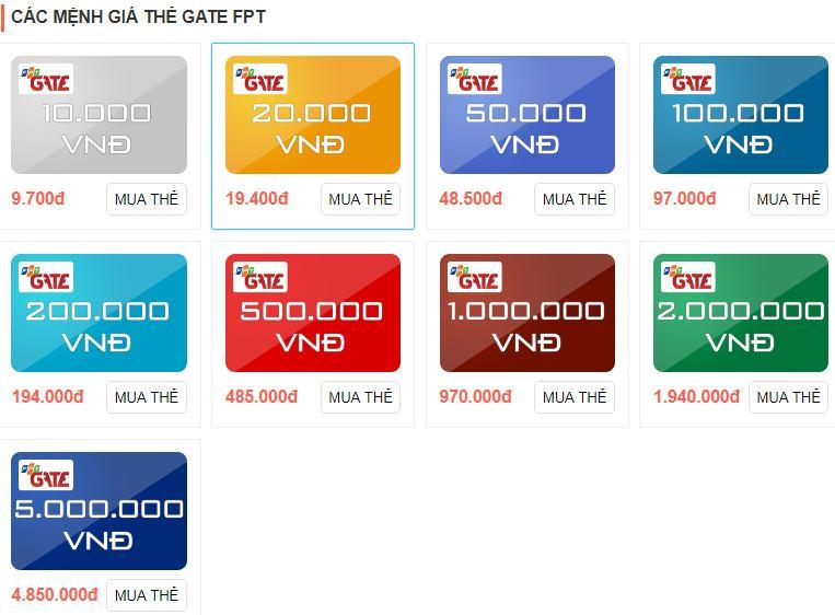 Làm giàu bằng thẻ gate chiết khấu cao