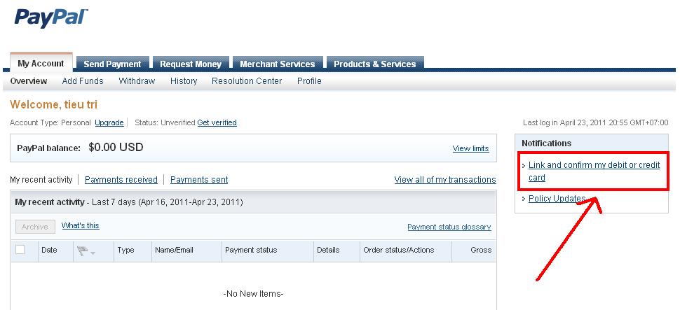 Làm thế nào Verified được tài khoản paypal h2
