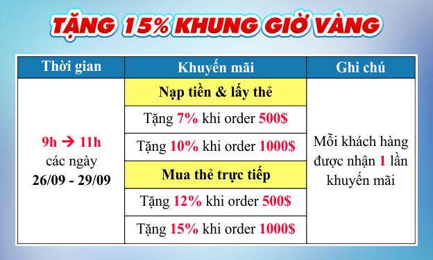 Mua thẻ giờ vàng - Nhận 10-15% chiết khấu 2