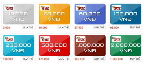 Làm giàu bằng hình thức mua thẻ gate chuyển khoản cho game thủ