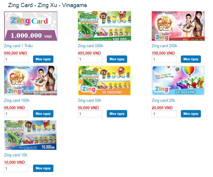 mẹo mua thẻ zing online nhanh chóng tại Tiengame.com