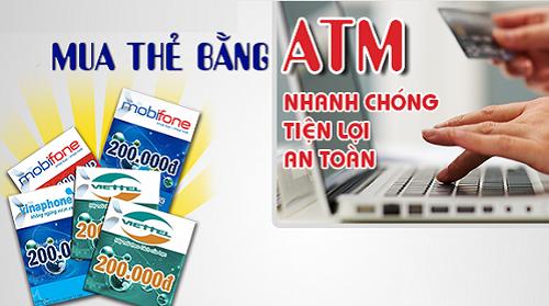 Mua thẻ điện thoại viettel nhanh chóng bằng thẻ ATM