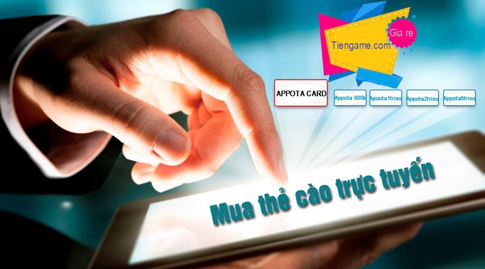 Hãy mua thẻ appota online nhanh chóng cùng Tiengame.com