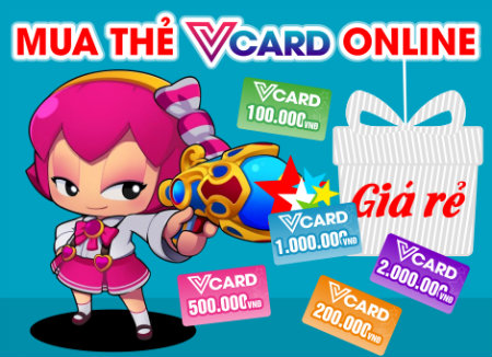 Mua thẻ Vcard online chiết khấu cao tại Tiền Game