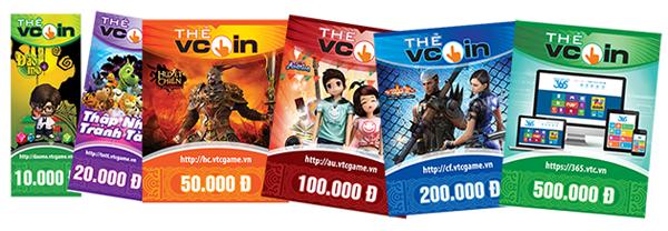 Thẻ vcoin nạp được những game gì?