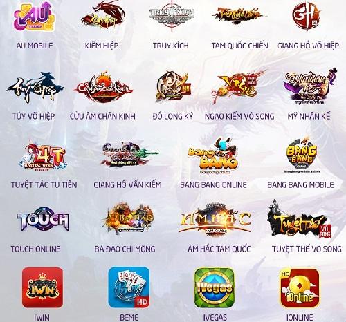 Tổng hợp các game online sử dụng thẻ bit