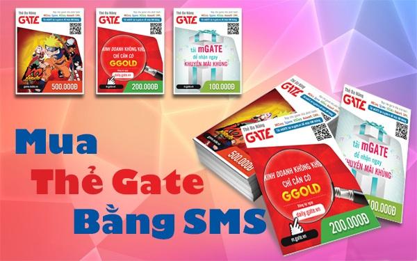 Minh họa mua thẻ gate bằng sms