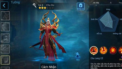 Kỹ năng chơi Chu Du trong 3Q Củ Hành