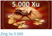 thẻ zing 5000 xu